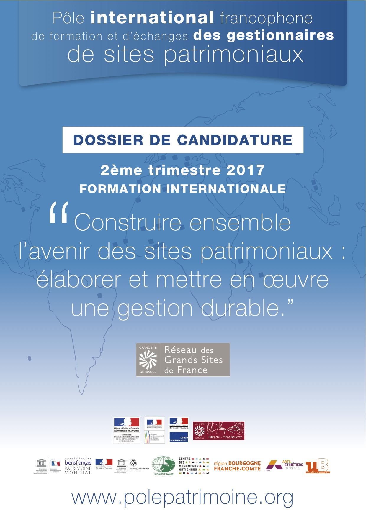formation internationale pour gestionnaires de sites